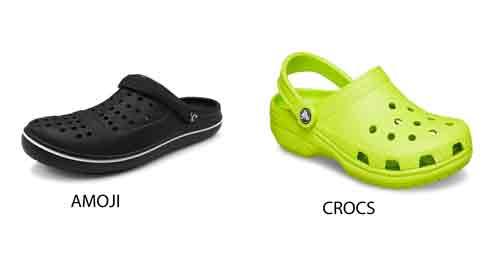 Amoji vs Crocs